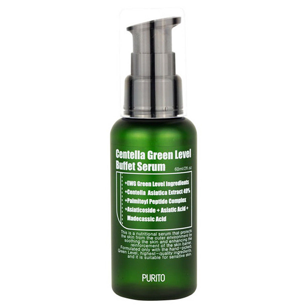 PURITO Centella Green Level Buffet Serum 60ml Face Cream Facial Skin Crea Serum Essence Anti Wrinkle Whitening Moisturizing 5pcs 4f d8 75l hrc60 carbide tips end mill bits straight shank tungsten steel milling cutter for steel 4 flute cnc high speed