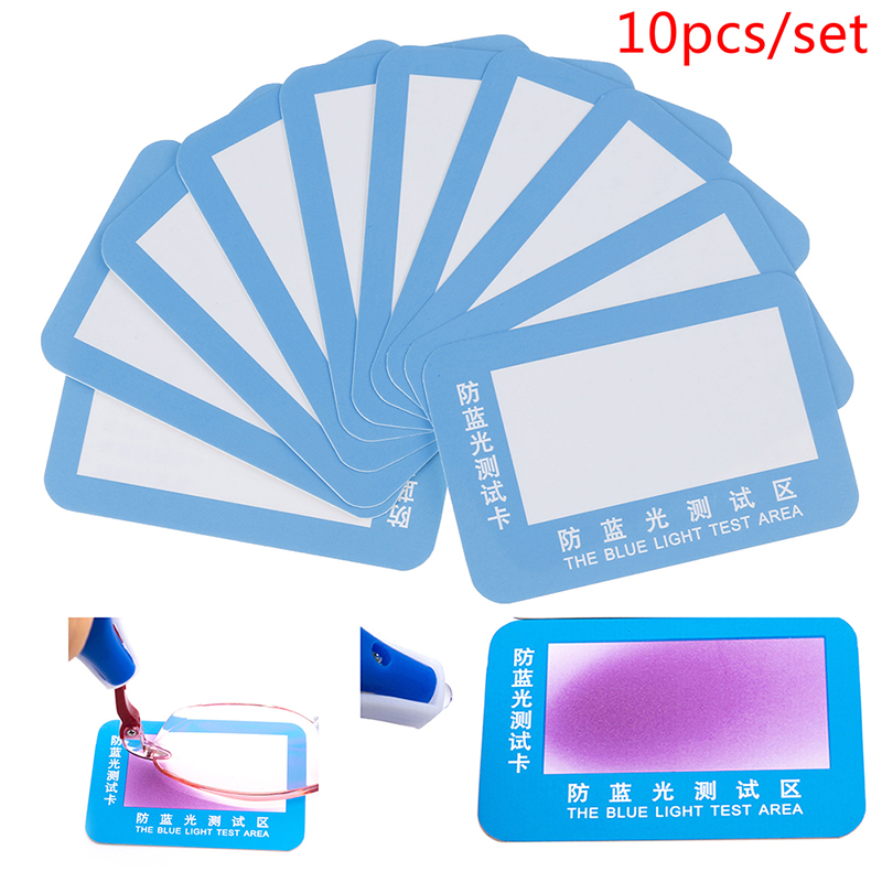 10pcs/lot Big Polarized Sunglasses Test Card Check Glasses Polarized Paper Help You To Check You Sunglasses Polarized Or Not