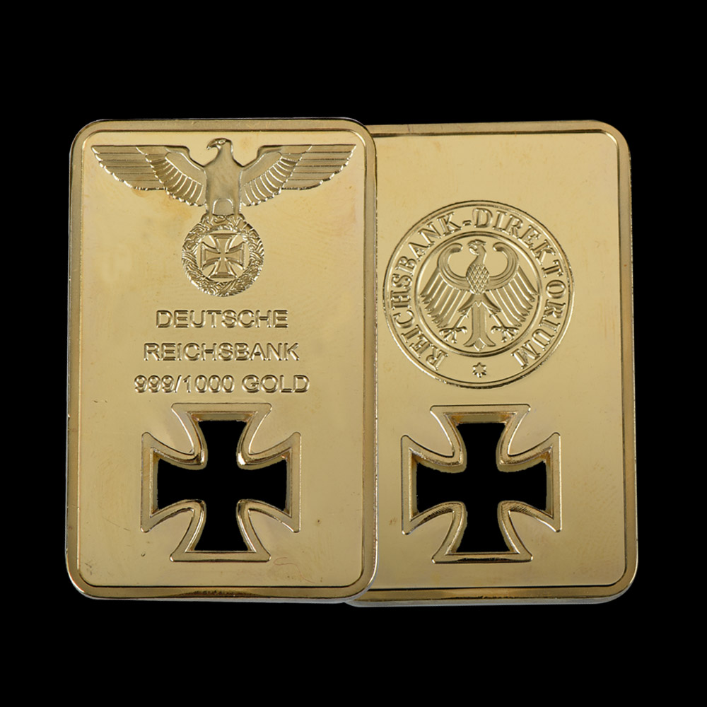 Wr 24k 999 9 quality plated gold bar eagle metal crafts - Home decor home business collection ...