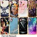 Soft Mobile Phone Cases For LG Google Nexus 5 E980 D820 4.95 inch Nexus5 D821 Flowers Hard Back Covers Skins Housings Sheath Bag