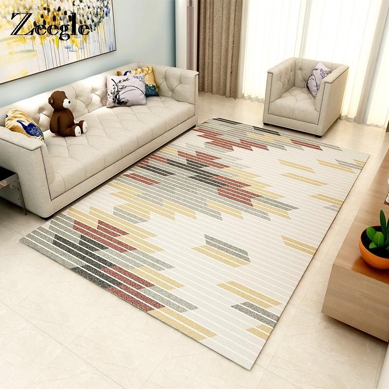 Zeegle European Geometric Carpet For Bedroom Living Room Chair Yoga Mat Jacquard Sofa Floor Mats Kid Room Play Carpets Area Rug