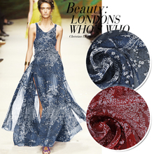 1Meter/Lot  135CM Width100%Mulberry Silk Chiffon Print Flower Fabric Material Textile For Dress Clothes Scarf Skirt