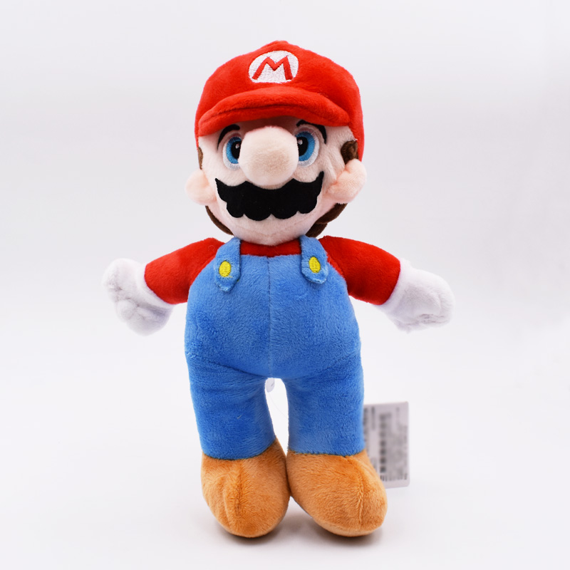 10''25cm Super Mario Bros PP Cotton Plush Toys Stand Mario Brother Red Hat Peluche Toys Soft Dolls For Kids Gifts
