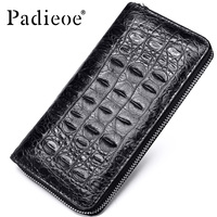 Padieoe 2018 Fashion Crocodile Pattern Coin Purses Card Holder Genuine Leather Men Long Wallets Men's Alligator Long Clutch Bags