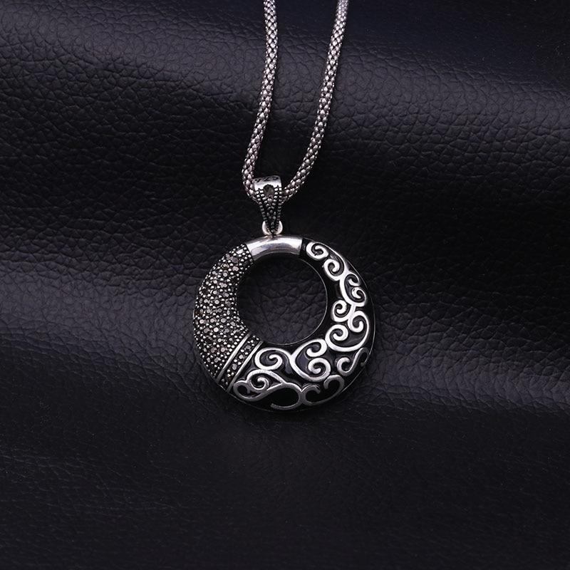 Feelgood Antik Gümüş Rəngli Zinət əşyaları Yeni Moda Qara - Moda zərgərlik - Fotoqrafiya 5