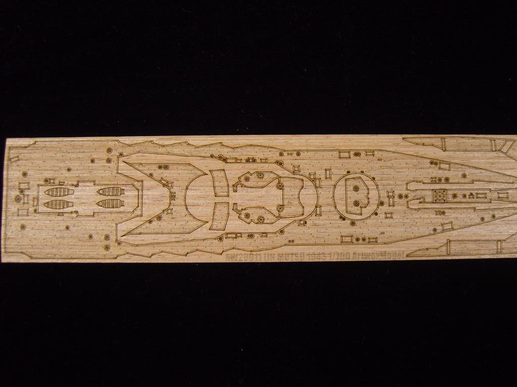 Aoshima ARTWOX 041604 pont en bois AW20011 Japonais cuirassé Mutsu