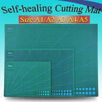 1 pieza A2 A3 A4 A5 estera de corte auto-sanación PVC rectángulo rejilla herramienta líneas tela cuero artesanía DIY suministros de corte estacionario