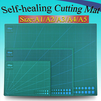 1piece A2 A3 A4 A5 self-healing Cutting mat PVC Rectangle Grid Lines tool Fabric Leather Craft DIY Cutting Supplies Stationary high quality and durable pad cutting tool diy a4 pvc rectangular grid line fabric leather paper