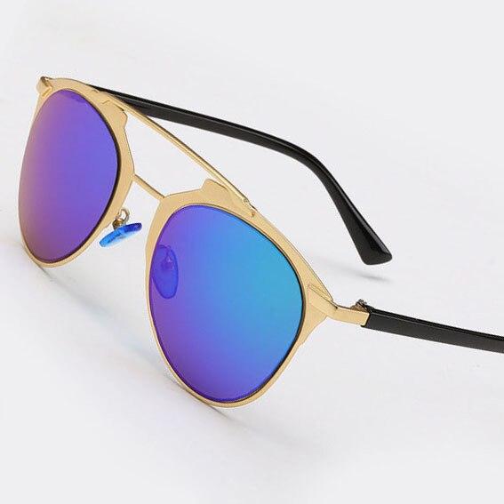 aa03f244370 Blue Mirrored Coating Lenses So Reflected Women Sunglasses CD Futuristic  Christian Designer Cat Eye Female Glasses Oculos De Sol-in Sunglasses from  Apparel ...