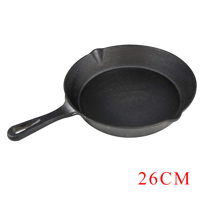 26cm Non Stick Frying Pan Cast Iron Skillet Pan Cooking Pots Cookware No Smoke Pancake Pan Use Gas And Induction Cooker