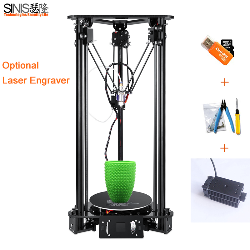 Delta 3D Printer Kit T1 Practical Delta Intelligent level Timing Pulley Aluminium Practical Delta Desktop DIY 3d Printer цена 2017