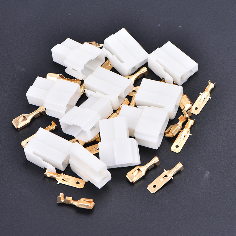 5 zestawów 6.3mm 2 Pin Automotive złącze przewodu elektrycznego zestawy wtyczek końcowych motocykl Ebike Car Terminal Plug mężczyzna kobieta
