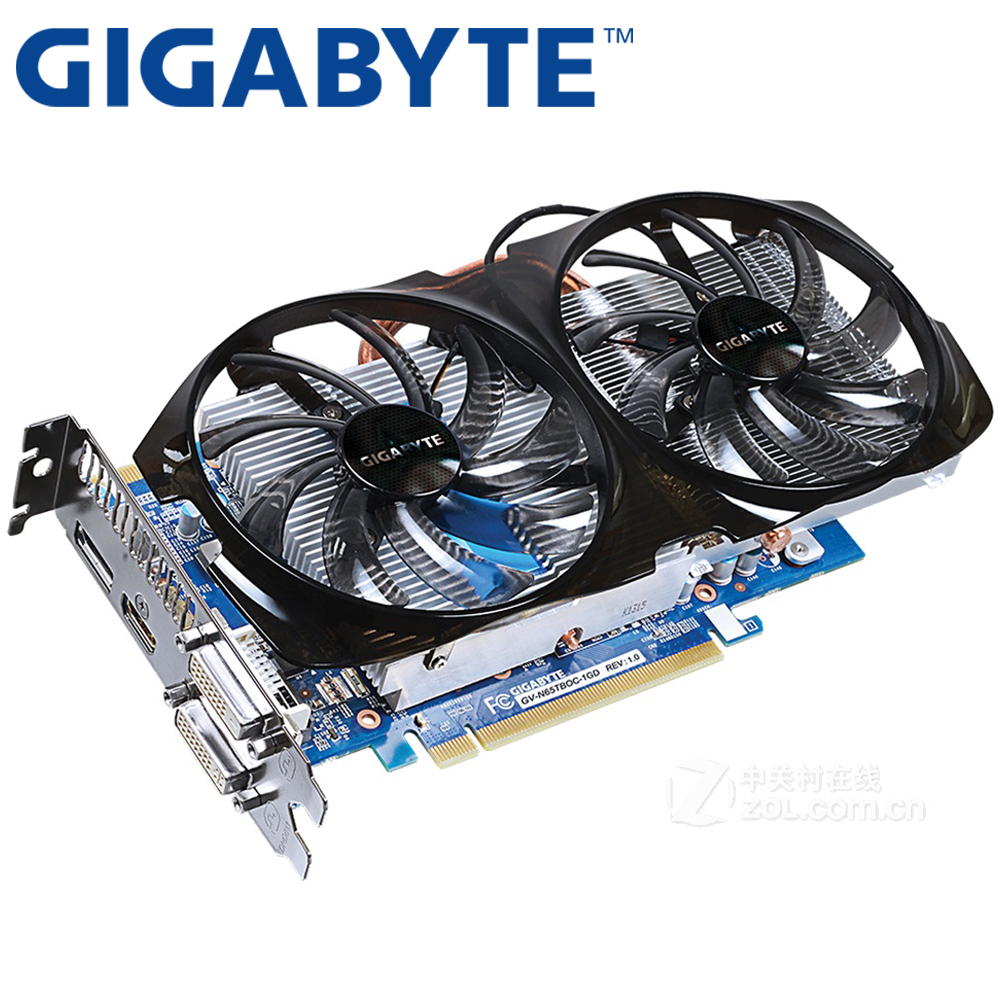 GIGABYTE Graphics Card Original GTX 650 Ti Boost 1GB 192Bit GDDR5 Video Cards for nVIDIA Geforce GTX650 Ti Boost Used VGA Cards 100% original nvidia geforce gtx280m gtx 280m video card 1gb ddr3 g92 761 b1 for dell m15x m17x r1 m6500 free shipping