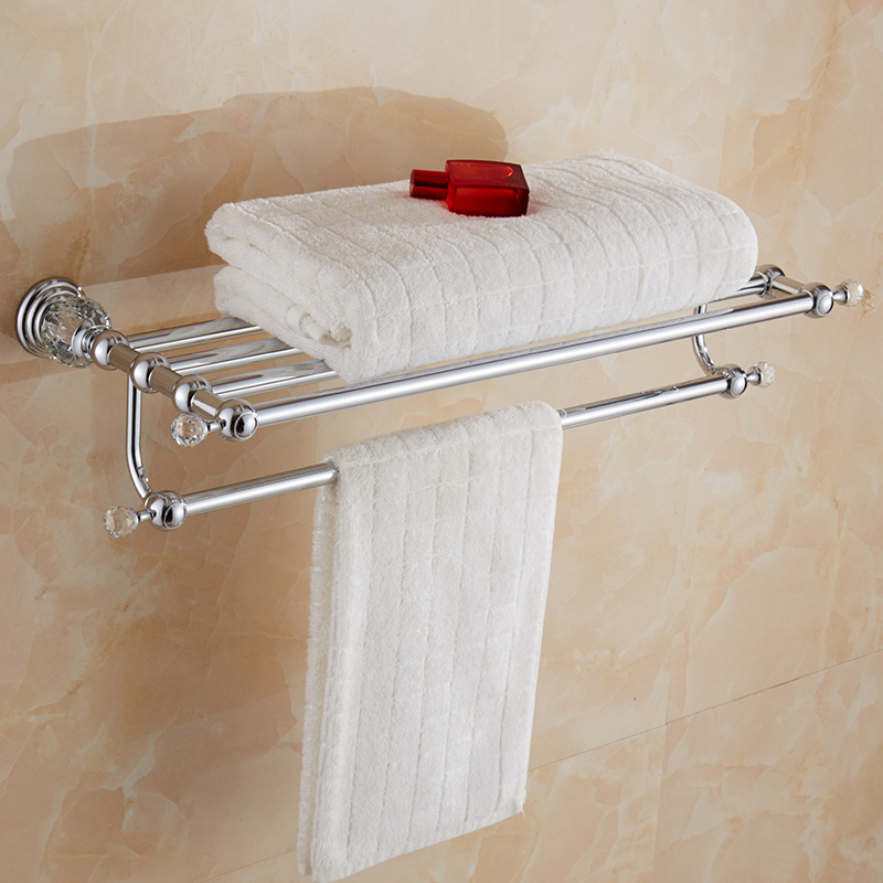 chrome polish towel rack