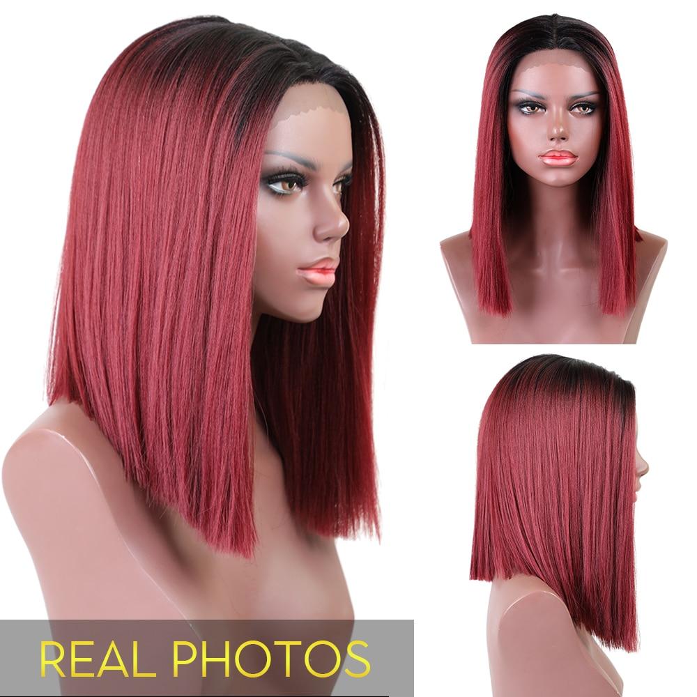 Στοιχείο Lace Μπροστινή Bob Περούκα Ombre - Συνθετικά μαλλιά - Φωτογραφία 2