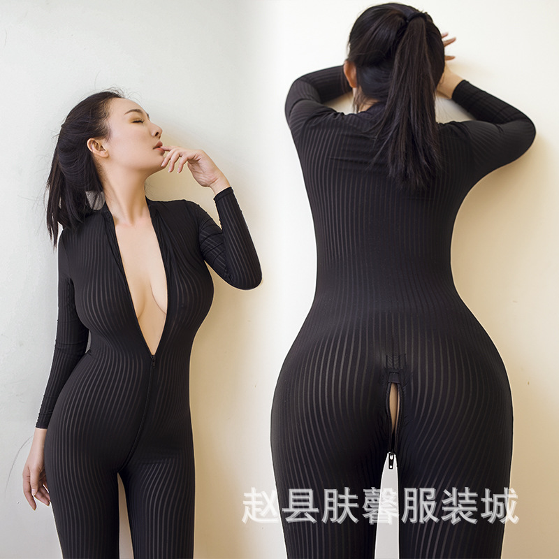 Open the cuffs of high elastic vertical grain three dimensional body piece body queen