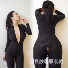 Open the cuffs of high-elastic vertical grain three-dimensional body piece body queen