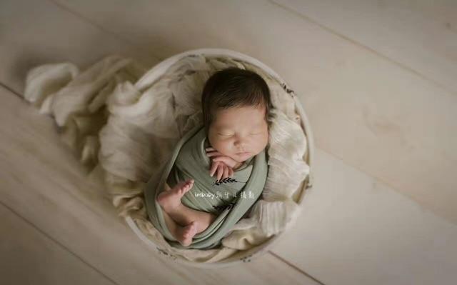 Newborn baby wood bowl newborn photography props two pcs