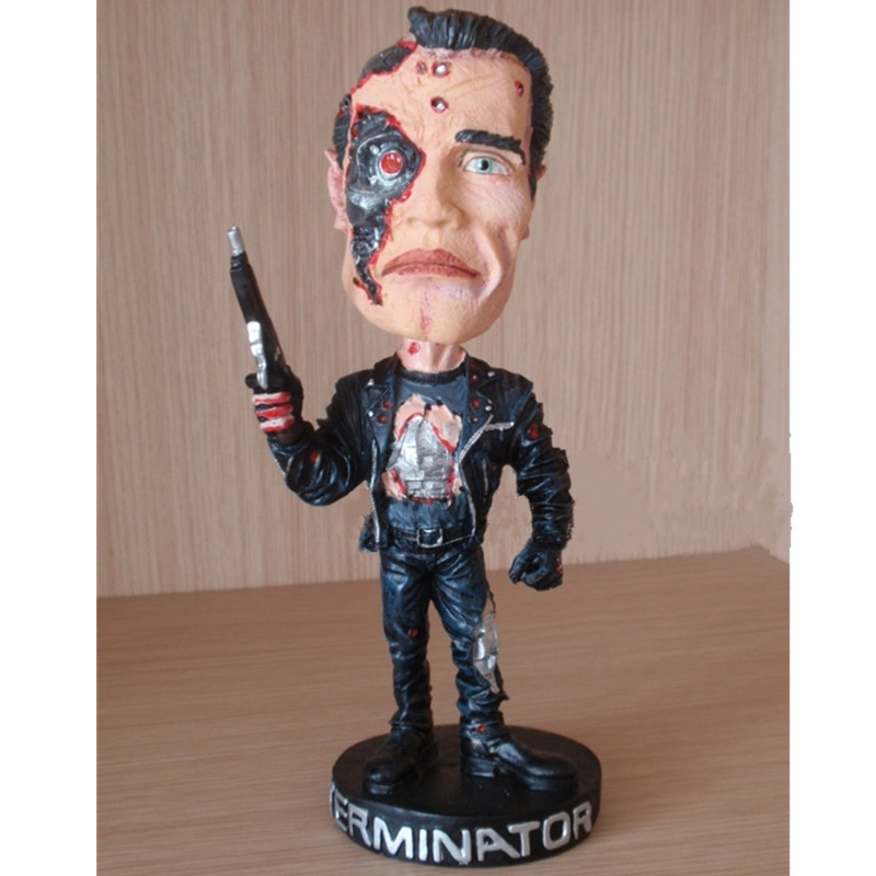The Terminator Movies Arnold Schwarzenegger James Cameron Battlefield Damage Ver Action Figures Collectible Model Toy L2351 cameron s the knowing