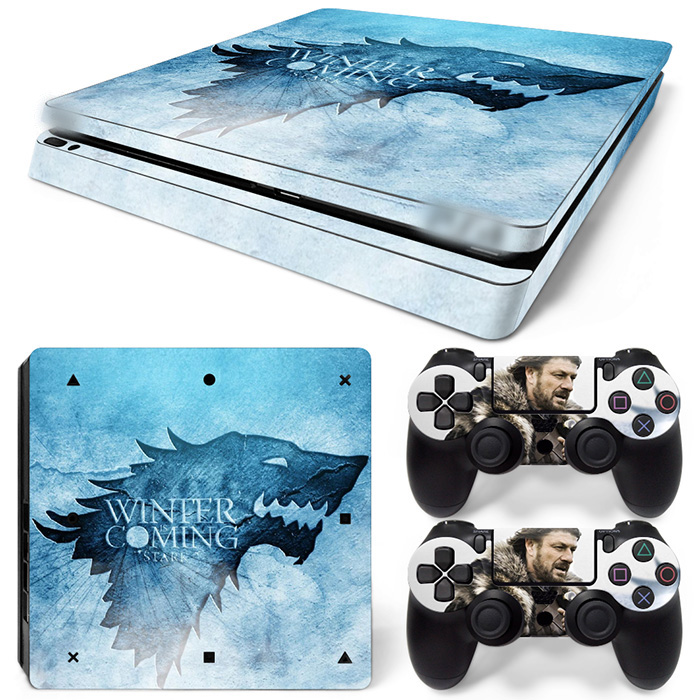 Free Drop Shipping  Vinyl Decal Skin Stickers for PS4 Slim-WINTER COMING TN-P4Slim-1529
