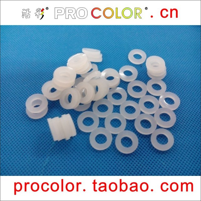 WELCOLOR Washer Clear Silicone Rubber Sealing Ring transparent ...