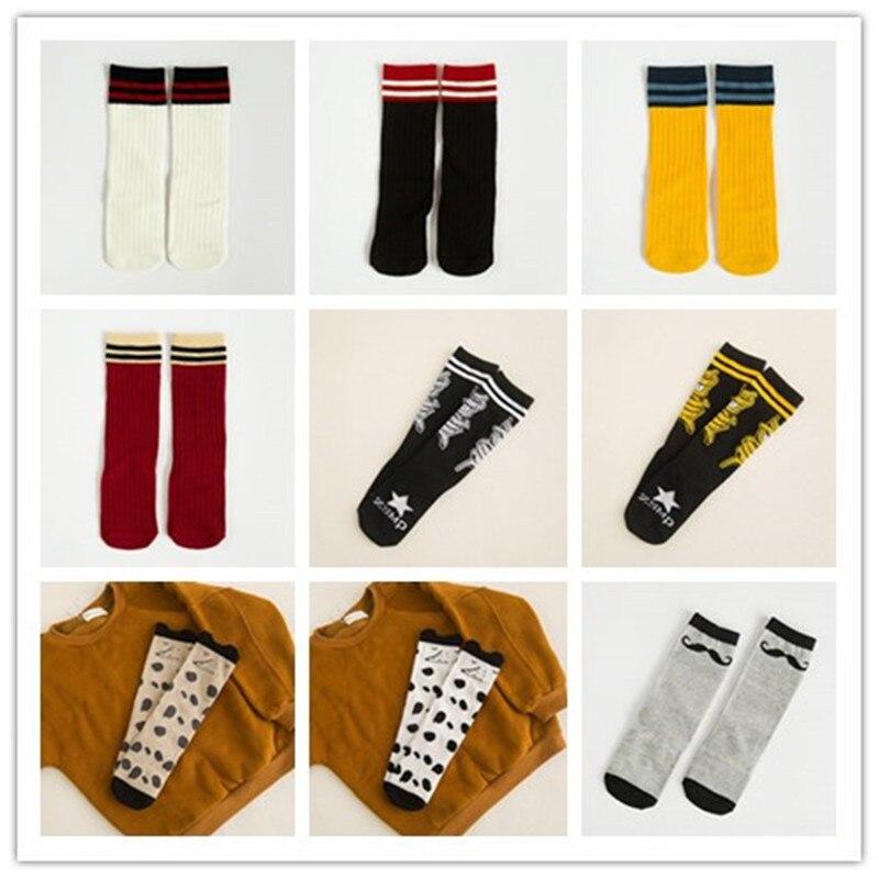 Inventory clearance Autumn Winter Warm Cute Fox Kids Socks Socks Totoro Bear Crepe Knee High Girls Cartoon Socks Long Socks inventory accounting
