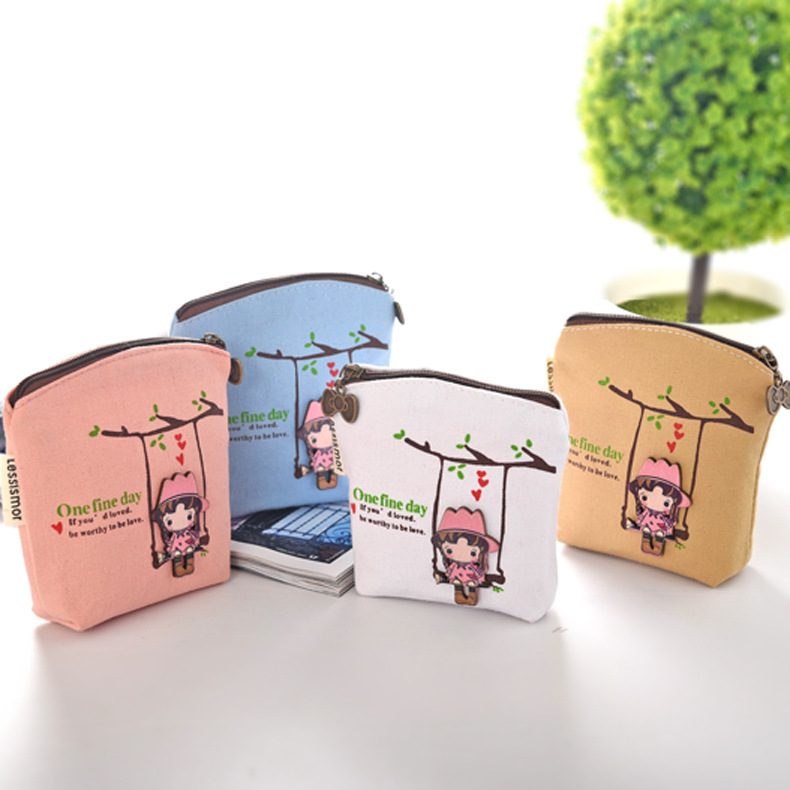 Luggage & Bags Cartoon Zero Wallet Pu Waterproof Key Pack Creative Coin Pack Holiday Promotional Gifts