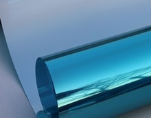 30 cm/40 cm/50 cm/60 cm/70 cm/80 cm x 2 m plata Aislamiento Película de La Ventana Pegatinas Reflectantes Solares Espejo Unidireccional Azul G077