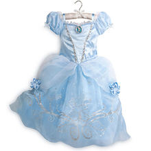 3-8T Girls Princess Cinderella & Bell Dresses Children Clothing Baby Clothes Kids Christmas Halloween Cosplay Vestidos Costumes(China)