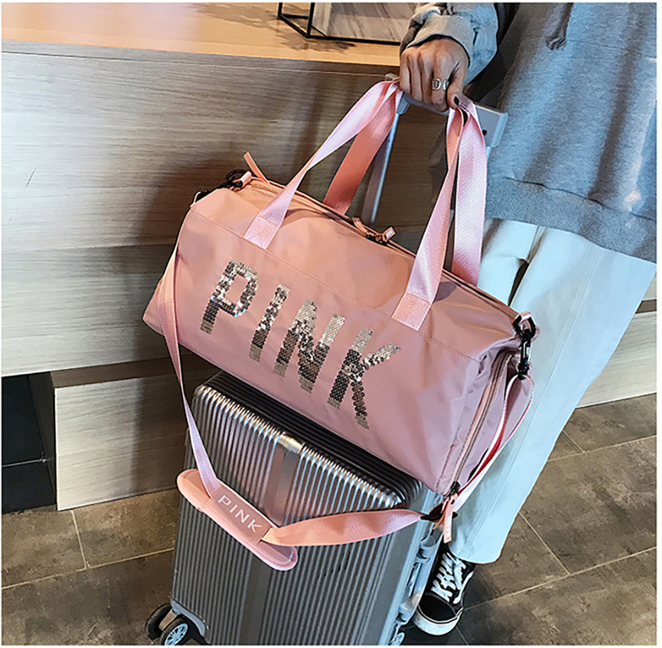 Outdoor Waterproof Nylon Sports Gym Bags Men Women Training Fitness Travel Handbag Yoga Mat Sport Bag with shoes Compartment01003120