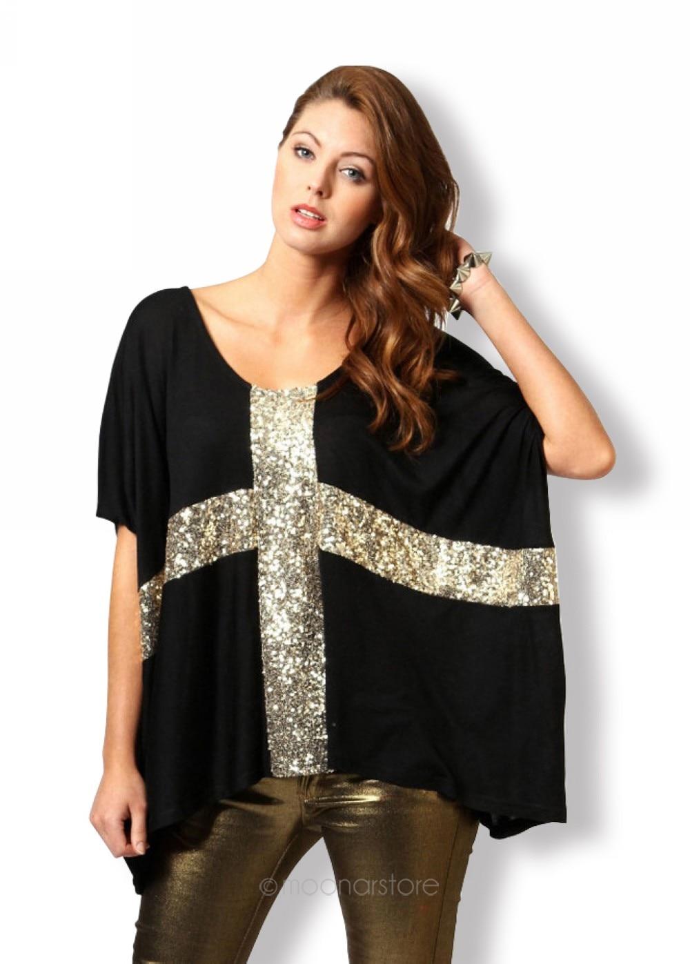Buy women shirt cross low o neck batwing for Low neck t shirts women s