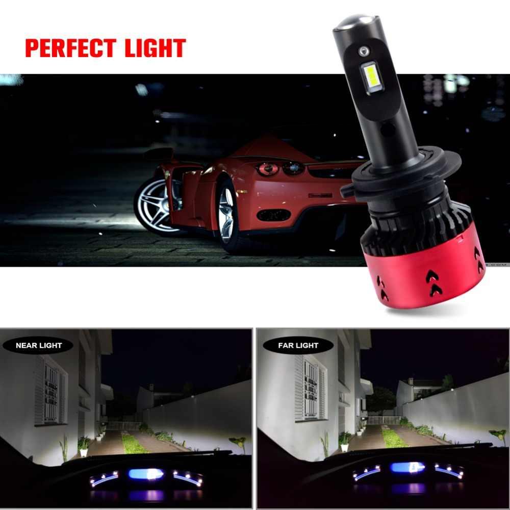 Foxcncar Led H4 H7 H11 CSP Led Car Headlight Bulb Kit 16000LM 70W H7 Led DC 12V 9005 9006 9007 6500K Auto Front Lamp Car Styling