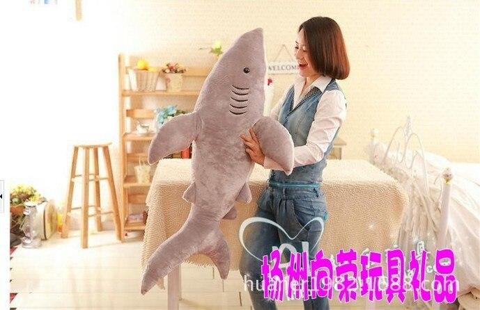 120 cm-baleine requin jouet poupée bébé dessin animé grande poupée petite amie cadeaux énorme animal en peluche