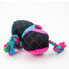 Wholesale New Pet Dog Toy Durable Braided Ball Dog Pet Toy Puppy Sound Chew Throw With Squeaky Dog Playing Squeaker Toy