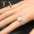 1.3CT Moissanites Dividir Vástago Anillo de Compromiso 14 K Oro Blanco Sólido Cojín Laboratorio Crecido Diamond Bridal Set 585 Boda de Halo conjunto