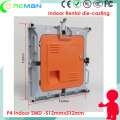 Cheapest price led rental display empty cabinet , p4 led screen cabinet price  die casting lightweight slim aluminum