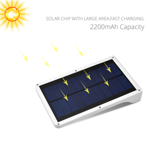 Image 2 - Solar Panel Power 36 LED Solar licht Sensor Wasserdichte Nacht Notfall Wand lampe Für Outdoor Straße Garten Yard Pathway beleuchtung