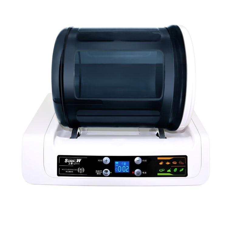 220V Electric Vacuum Food Marinator Tumbling Machine Household Vacuum Pickling Machine Chicken Burger Marinated Bacon