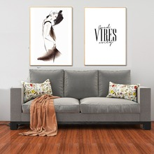 Fashion Girl Poster Motivational Quotes Wall Art Nordic Style Canvas Painting Cuadros Decoration Prints Picture for Living Room
