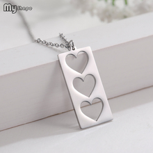 My Shape New Arrive Rectangular Square Unique Pendant Stainless Steel Unisex Necklace In Stock цена 2017