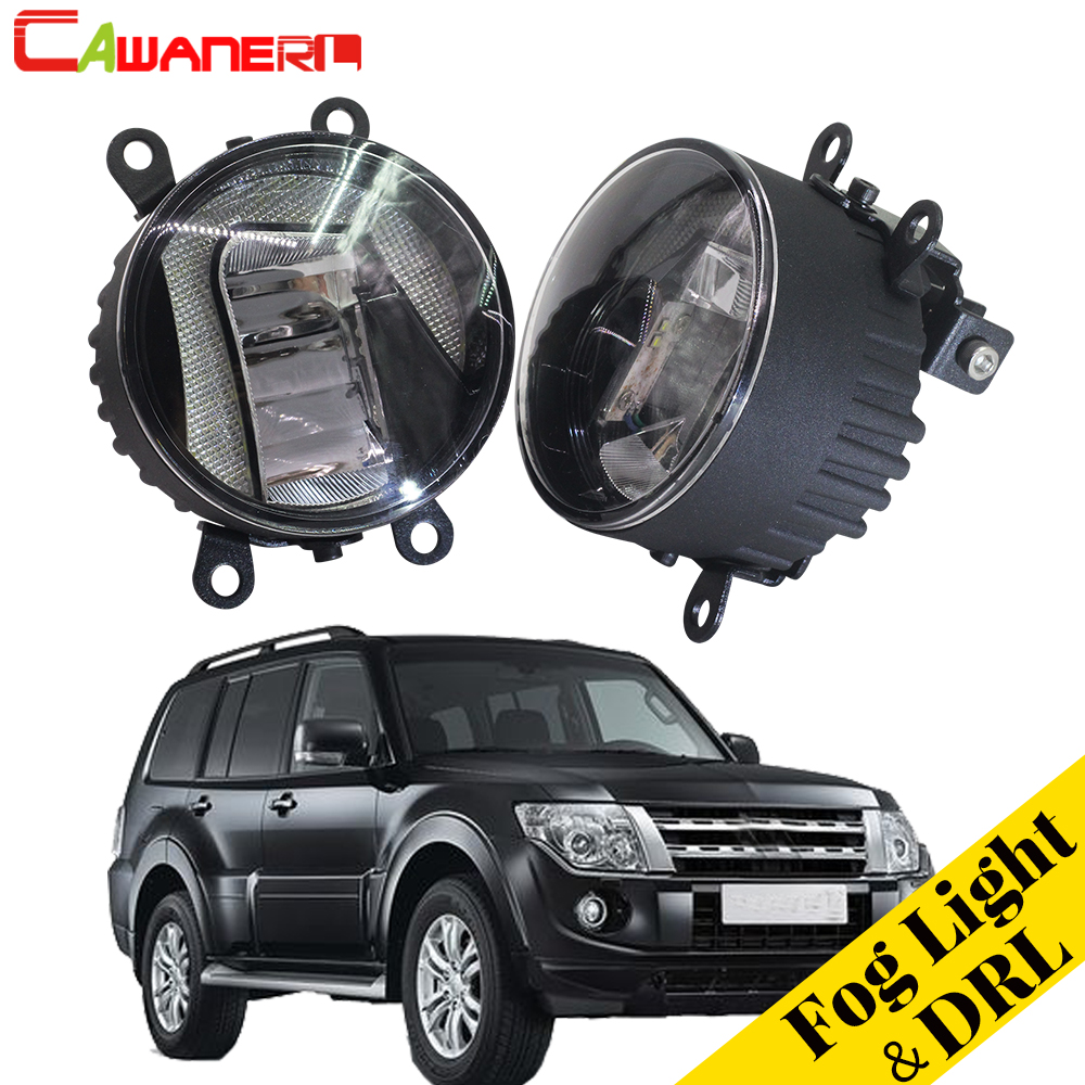 Cawanerl For Mitsubishi Pajero IV Van V80 V90 Box 2007-2012 Car Styling LED Fog Light Daytime Running Lamp DRL 2 Pieces cawanerl for mitsubishi pajero iv v8