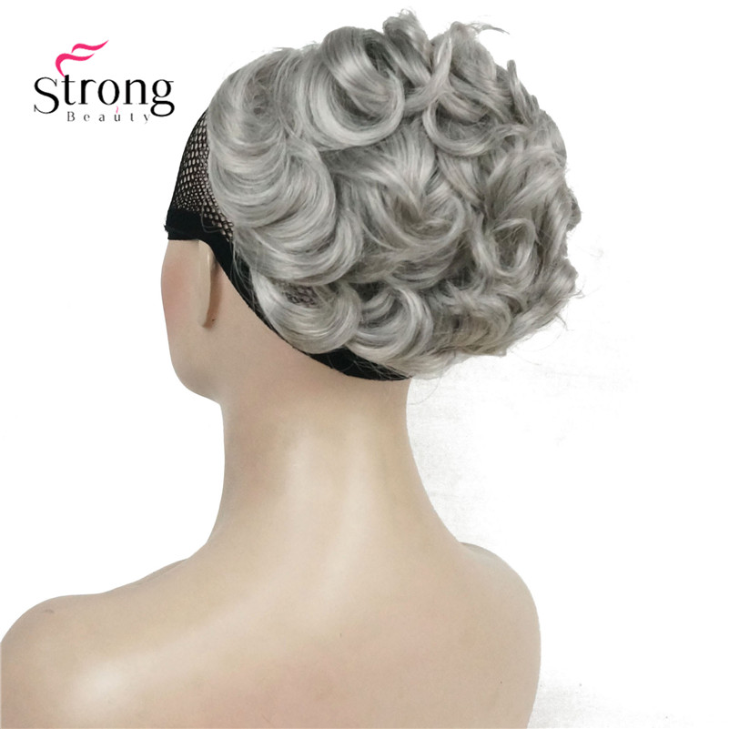 Short Messy Curly Dish Hair Bun Extension Easy Stretch Hair Combs Clip In Ponytail Extension Scrunchie Chignon Ponytail