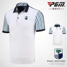 New PGM Men's Golf T-shirt Men Short-sleeved Shirt Sportswear Competition Suit Golf T-shirt Breathable Stripe T shirt