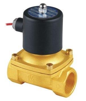 Высокое качество 2 шт. в партии 1-1/4 ''Размер 2 Вт электромагнитный клапан для воды Латунь 110VAC