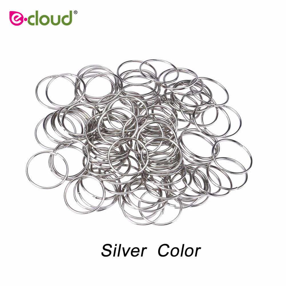 100 шт/уп бусины дредлок глубокий медный и серебряный цвет шарик для волос для дредов кольца для волос Плетение отверстие микро кольцо