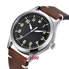 Мужские s наручные часы, роскошный бренд 42 мм Corgeut черный циферблат сапфировые механические часы хрустальные автоматические мужские часы