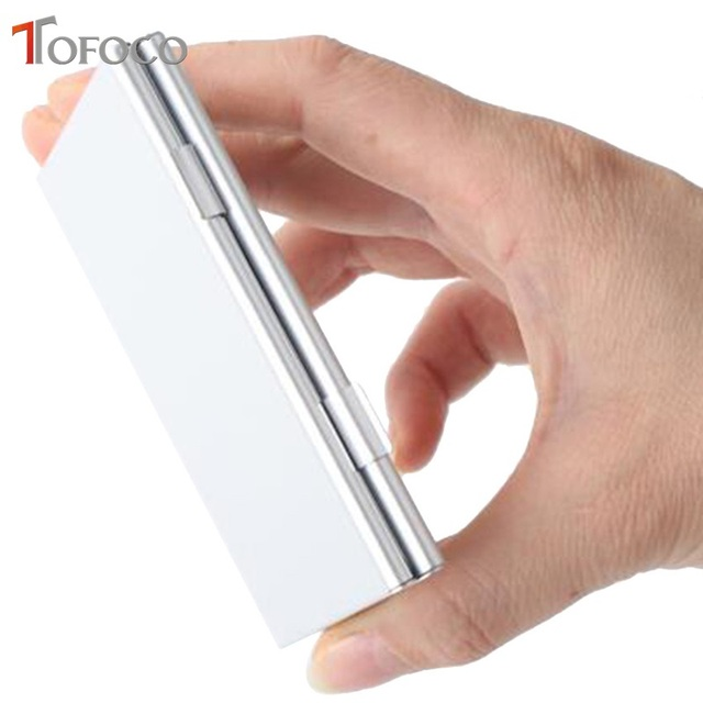 2017 TOFOCO Aluminium Alloy Micro for SD MMC TF Memory Card Storage Box Protecter Case 4x for SD Card 8 x Micro SIM Card 5