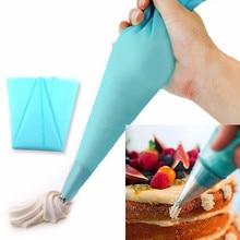 Высококачественный многоразовый силикон кремовая глазурь синяя Кондитерская сумка инструменты для украшения торта 3 размера