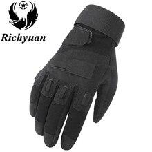 Richyuan Army Tactical Gloves Man Full Finger Gloves Militar