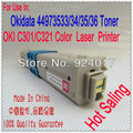 Impressora A Laser Para Oki C301 C321 Toner, Redefinir Toner Para Okidata C301 C321 C301n C321n Impressora Laser, Para Oki 301 321 chip de Toner Kit